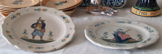 Assiettes Henriot Quimper