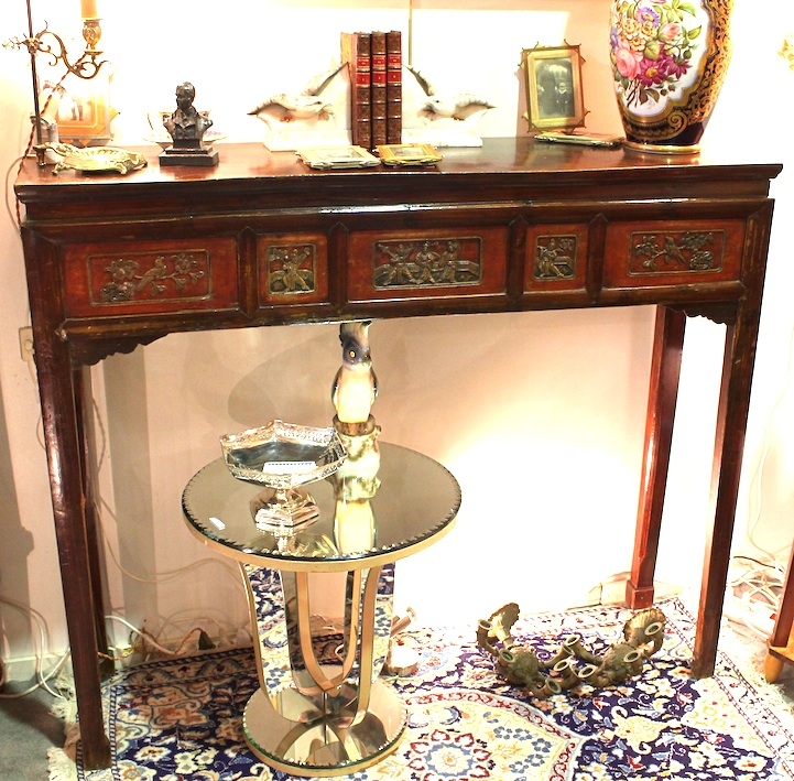 Console chinoise en orme